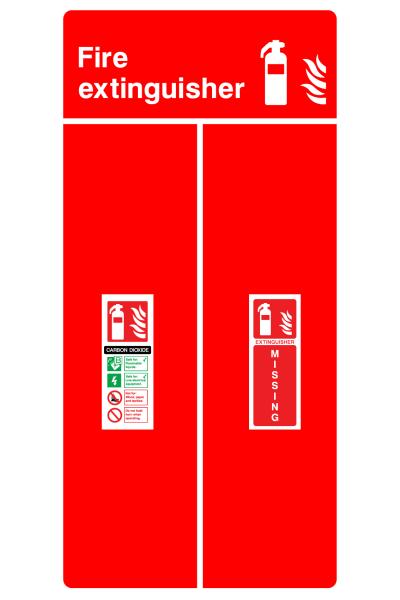 Fire Extinguisher Carbon Dioxide Extinguisher Missing Sign
