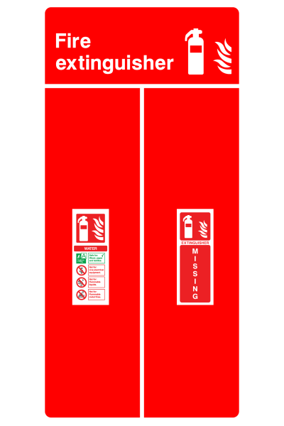 Fire Extinguisher Water Extinguisher Missing Sign