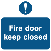 Fire Door Keep Closed - Exclamation Mark Sign