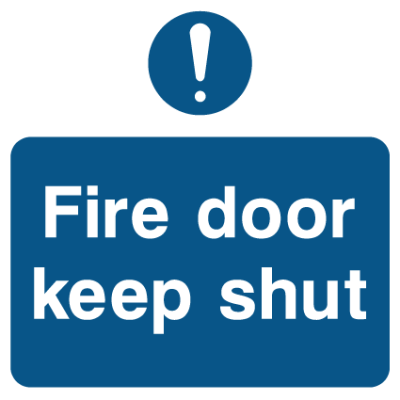 Fire Door Keep Shut - Exclamation Mark Sign