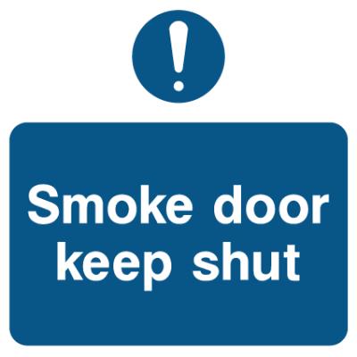 Smoke Door Keep Shut Sign