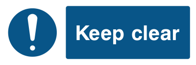 Keep Clear Sign - Wide