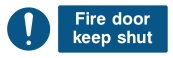 Fire Door Keep Shut Sign - Wide