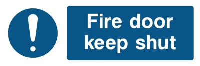 Fire Door Keep Shut Sign - Wide