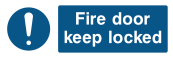 Fire Door Keep Locked Sign - Wide
