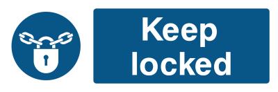 Keep Locked Sign - Wide