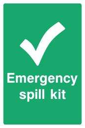 Emergency Spill Kit Sign