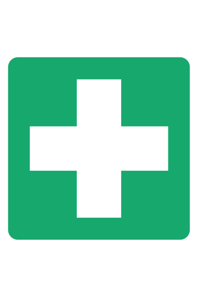 First Aid Cross sign