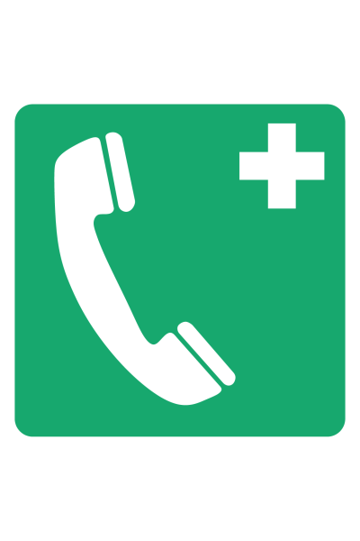 First Aid Emergency Telephone Sign
