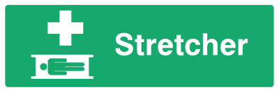Stretcher Sign - Wide