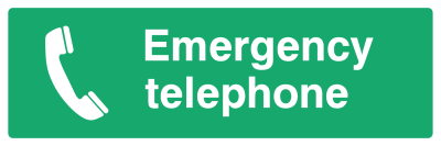 Emergency Telephone Sign - Wide