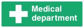 Medical Department Sign - Wide
