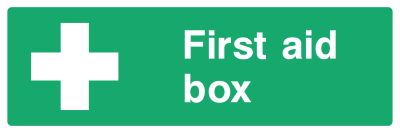 First Aid Box Sign - Wide