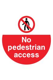 No Pedestrian Access Floor Sticker