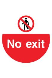 No Exit Floor Sticker