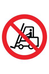 No Forklifts Floor Sticker