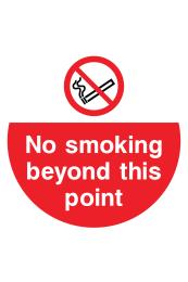 No Smoking Beyond This Point Floor Sticker