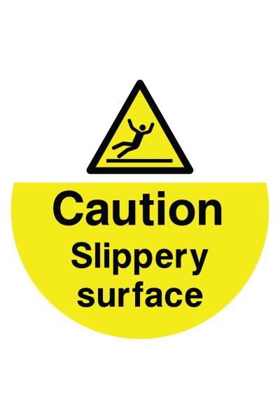 Caution Slippery Surface Floor Sticker