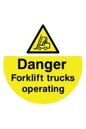 Danger Forklift Trucks Operating Floor Sticker
