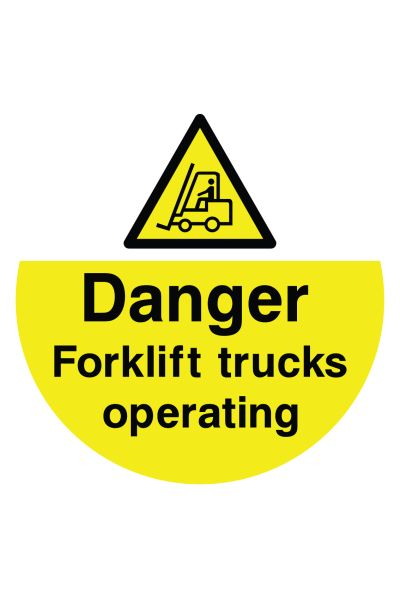 Danger Forklift Trucks Operating Floor Sticker