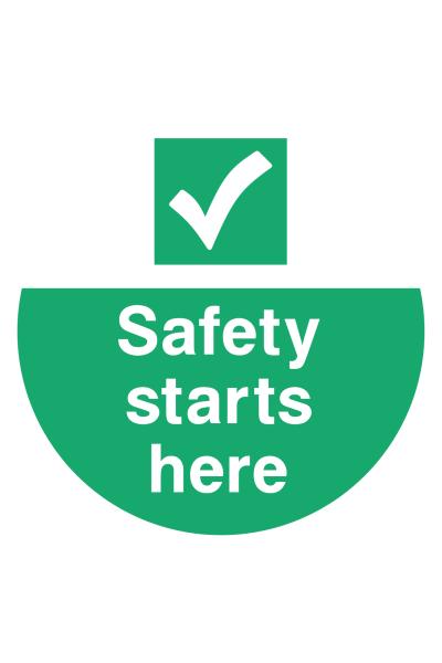 Safety Starts Here Floor Sticker