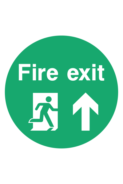 Fire Exit Floor Sticker