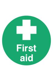 First Aid Floor Sticker