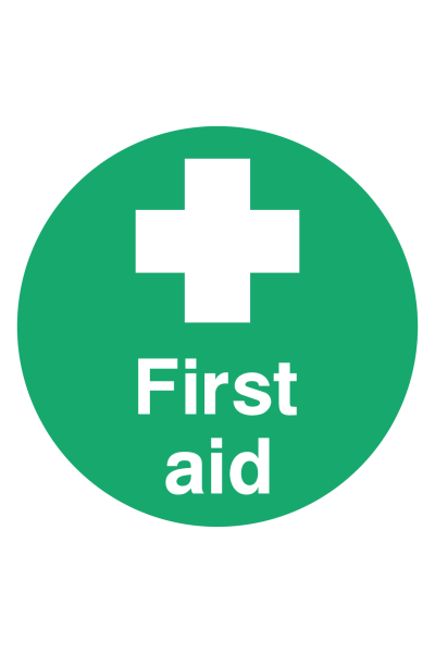 First Aid Floor Sticker