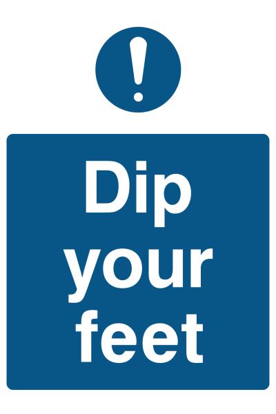 Dip Your Feet Sign