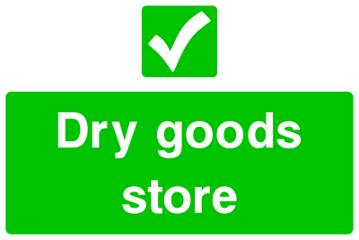 Dry Goods Store Sign
