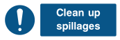Clean Up Spillages Sign - Wide
