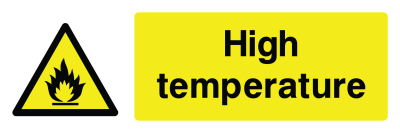 High Temperature Sign - Wide