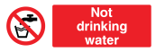 Not Drinking Water Sign - Wide
