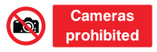 Cameras Prohibited Sign - Wide