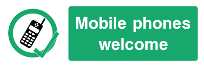 Mobile Phones Welcome Sign - Wide