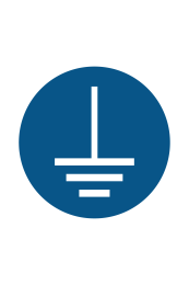 Connect Earth Terminal To The Ground Sign - Icon