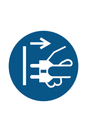 Disconnect Mains Plug From Electrical Outlet Sign - Icon
