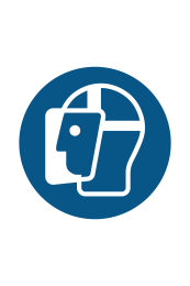 Wear Face Shield Sign - Icon