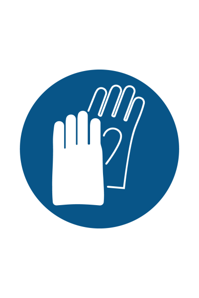 Hand Protection Must Be Worn Sign - Icon