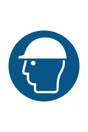 Safety Helmets Must Be Worn Sign - Icon