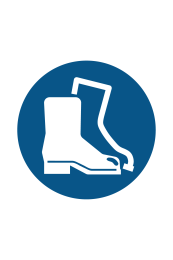 Protective Footwear Must Be Worn Sign Sign - Icon