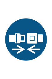 Wear Safety Belts Sign - Icon