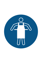 Use Protective Apron Sign Icon