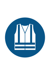 Wear High Visibility Clothing Sign - Icon