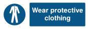 Wear Protective Clothing Sign - Wide