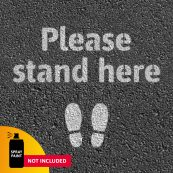 school please stand here sign