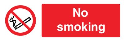 No Smoking Sign - Wide
