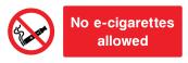 No E-cigarettes Allowed Sign - Wide