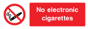 No Electronic Cigarettes Sign - Wide