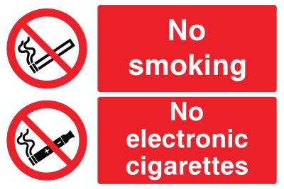 No Smoking No Electronic Cigarettes Sign